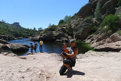 Jishnu & I climbed to the reservoir at Pinnacles - it was a narrow steep stair path - not easy!