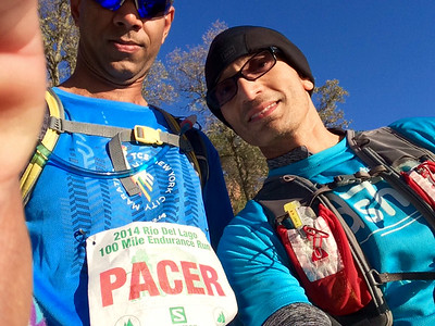 A pic with my final pacer, Prakash, Mile#100, RDL100